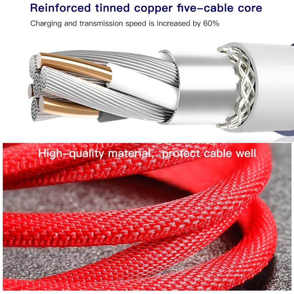 Baseus mikro usb kabel 2a snabb laddning av data tråd sladd microusb laddare kabel för samsung xiaomi android mobiltelefon kablar