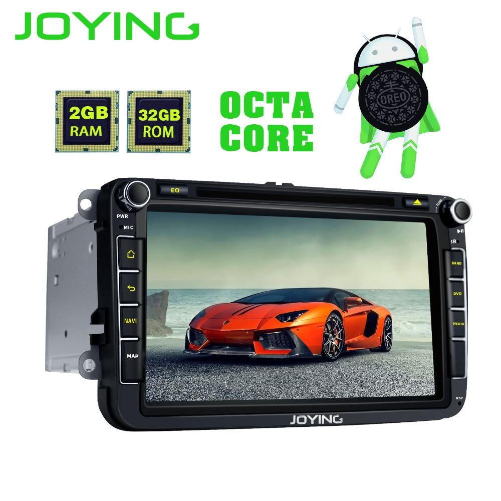 Joying 2din android 8 0 1024*600 bil stereo radio gps-spelare för vw,  skoda, polo, golf, passat b7 b5 seat leon huvudenhet