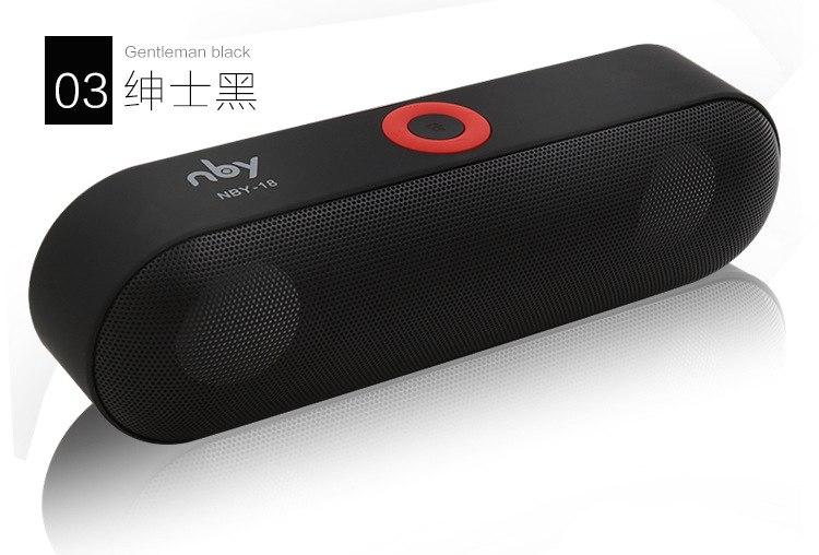 Nya nby-18 mini bluetooth-högtalare för bärbar trådlös högtalare ljudsystem  3d-stereo ae2b135aecfca